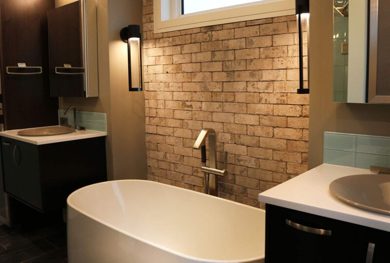Thin Brick Bathroom Tub