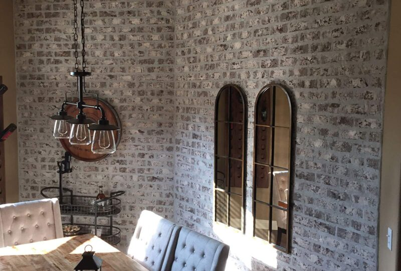 Thin Brick Dining Room