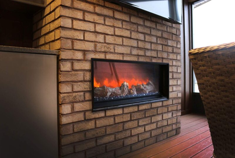 Thin Brick Fireplace
